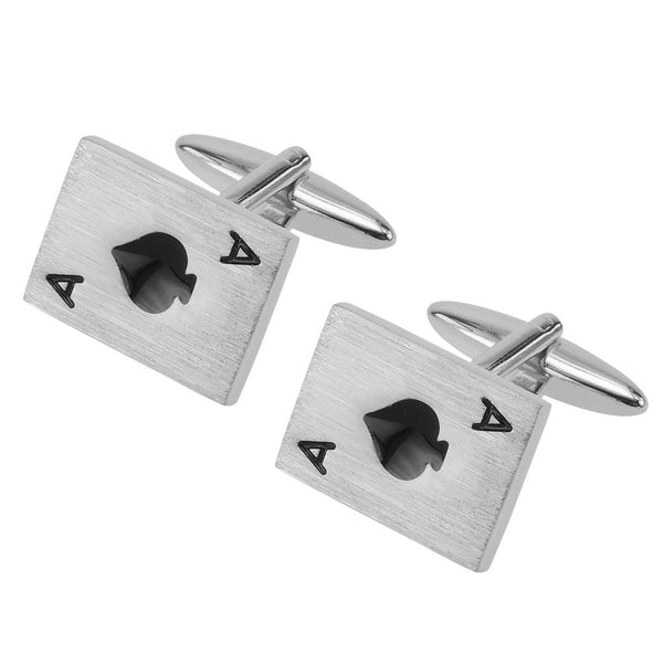 Black Poker Ace Cufflinks - Thingalicious