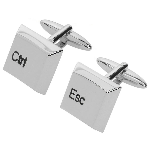 Computer Keyboard Ctrl and Esc Cufflinks - Thingalicious