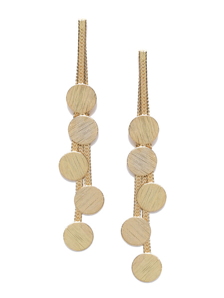 Classic Statenent Contemporary Gold Plated Earrings