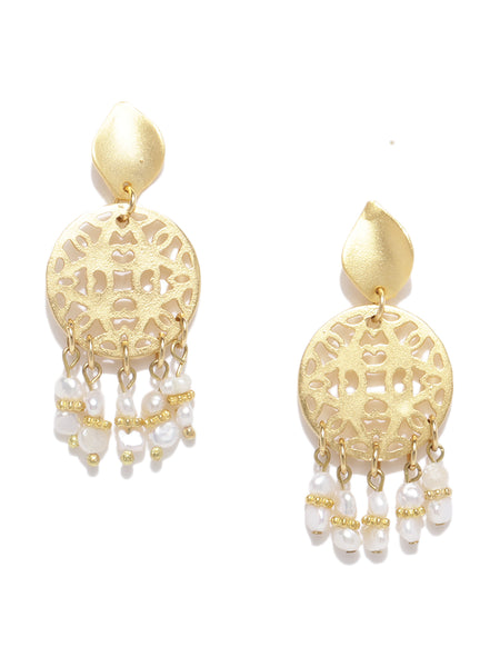 Filigree Pearl Earrings