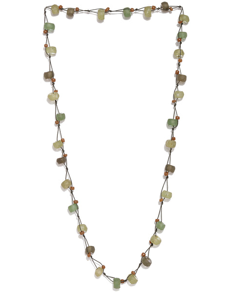 Glass Beads Multicolour Long Necklace