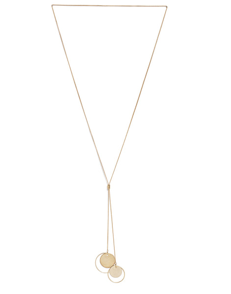 Gold Plated Delicate Lariat Necklace