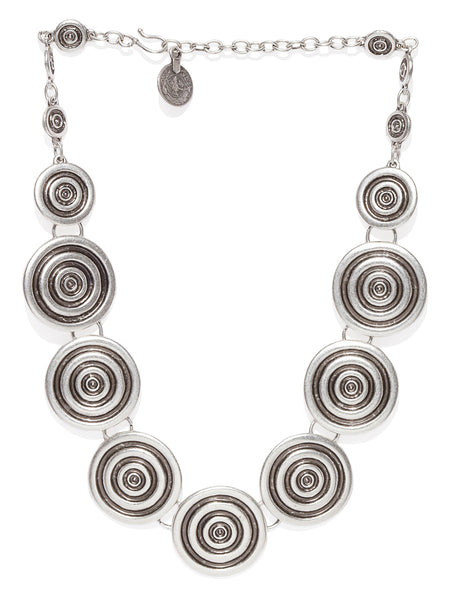 Silver Plated Spiral Necklace