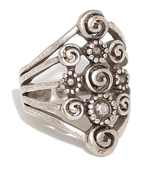 Silver Plated Statement ring