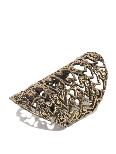 Antique Bronze Filigree Ring