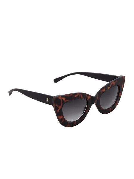 Brown Tortoiseshell Cateye PC Sunglasses - Thingalicious  - 1