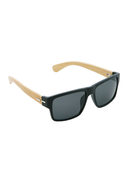 Classic Black Wayfarers with Wood Temple - Thingalicious  - 1