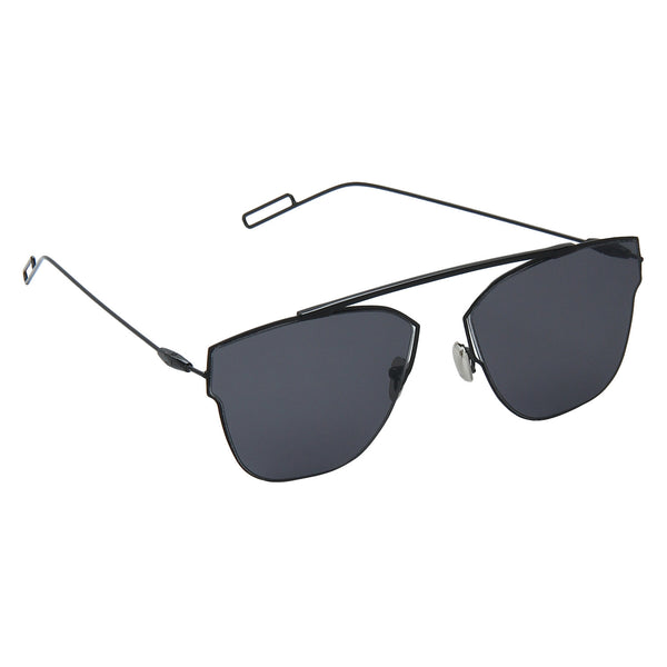 Black Full Rim Metal Stylish Sunglasses