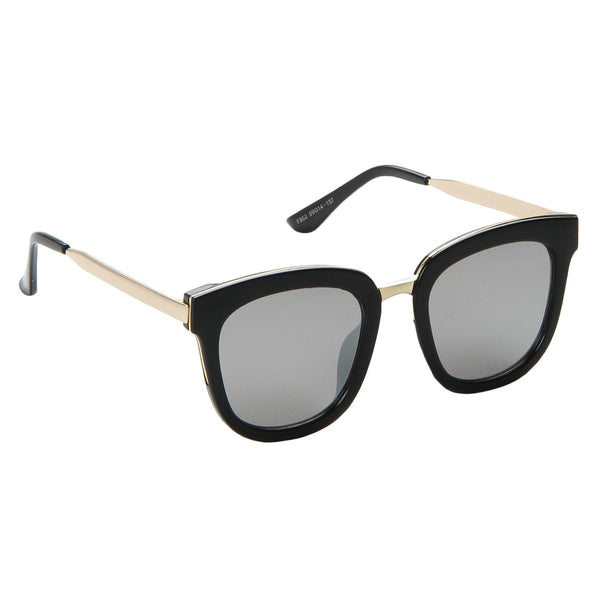 Bold Black Full Rim Reflector Sunglasses
