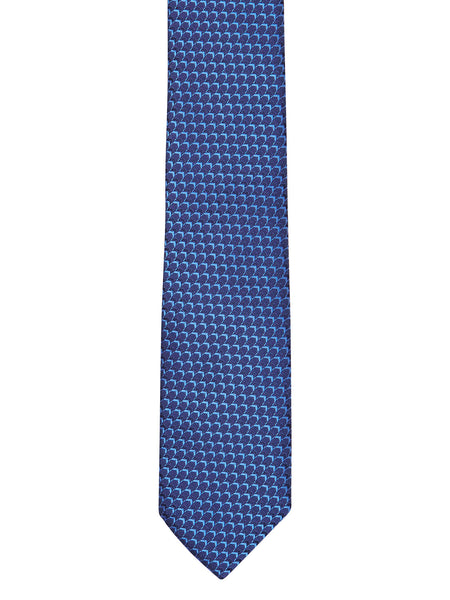 Blue Herringbone Tie - Thingalicious  - 1