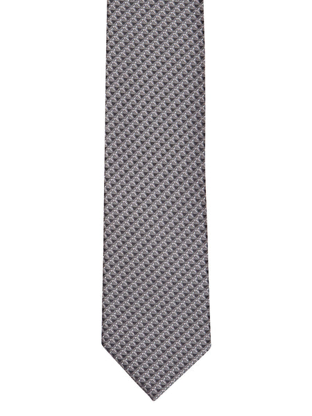 Charcoal Grey Herringbone Slim Tie - Thingalicious  - 1