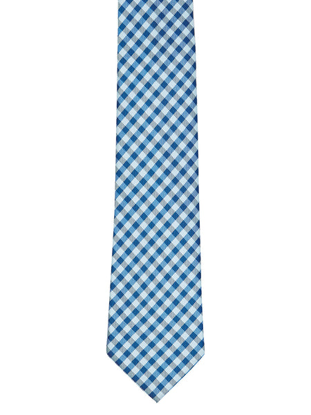 Classic Blue Check Tie - Thingalicious  - 1
