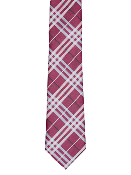 Burnt Red Plaid Tie - Thingalicious  - 1