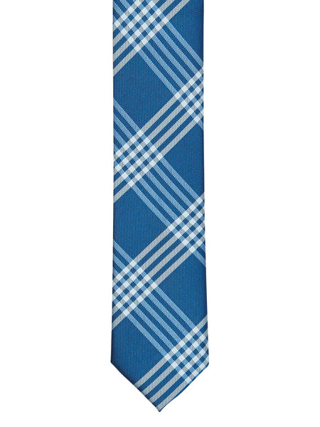 Blue Classic Plaid Tie - Thingalicious  - 1