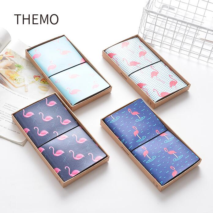 The Strolling Flamingo PU Leather Cover Planner Notebook Diary Book Exercise Composition Binding Note Notepad Gift Stationery