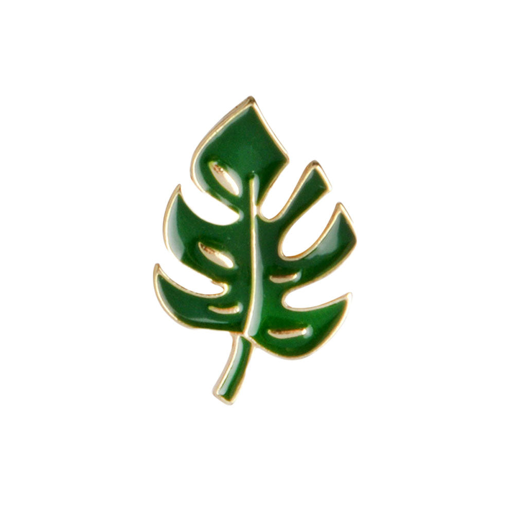 Simple Cartoon Green Plant Coconut Tree Mexican Cactus Leaf Alloy Brooch Pins DIY Button Pin Denim Jacket Pin Gift Jewelry