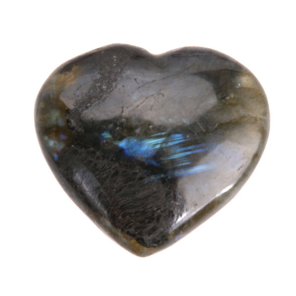 Trendy Heart Shape Labradorite Gemstone Pendant Semi Gem Jewelry Gifts DIY Handmade Stone Craft Accessories