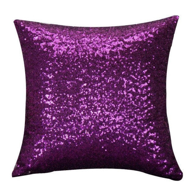 Super Deal 2016  Solid Color Glitter Sequins Throw Pillow Case Cafe Home Covers coussin throw pillow XT