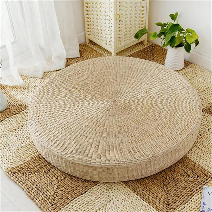 Natural Woven Floor Cushion