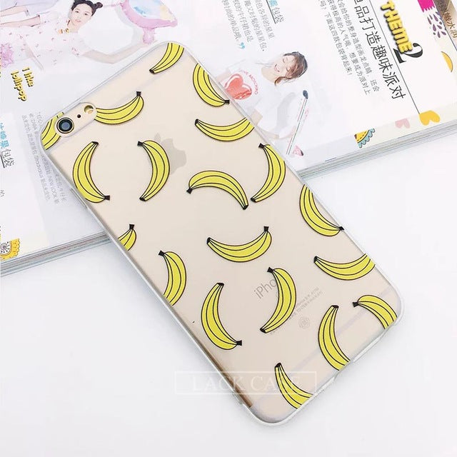 LACK Cute Cartoon Unicorn Flamingo Case For iPhone 6 Case Plant Cactus Cover Lips Fruit Phone Cases Capa For iphone 6S 6 PLus