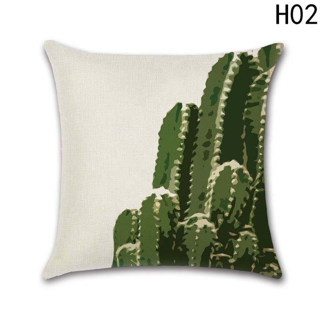 New Fashion Africa Tropical Plant Cushion Covers Cactus Pillowcase Seat Decor Car/Chair/Office Sofa Pillow Covers 45x45cm