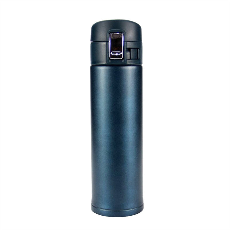 Vacuum Insulation Cup Stainless Steel Bounce Cover Cup Thermoses Bottle Travel Mug for Home Office Outdoor Use 500ML