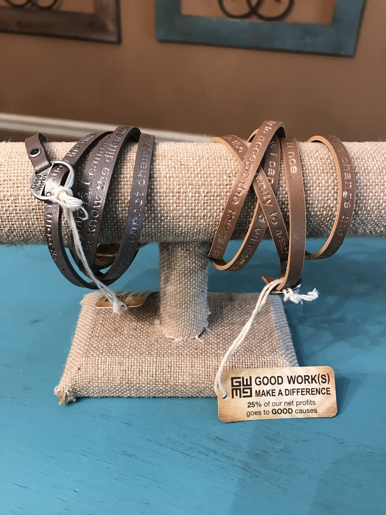 Leather Wrap Bracelets by Goodworks