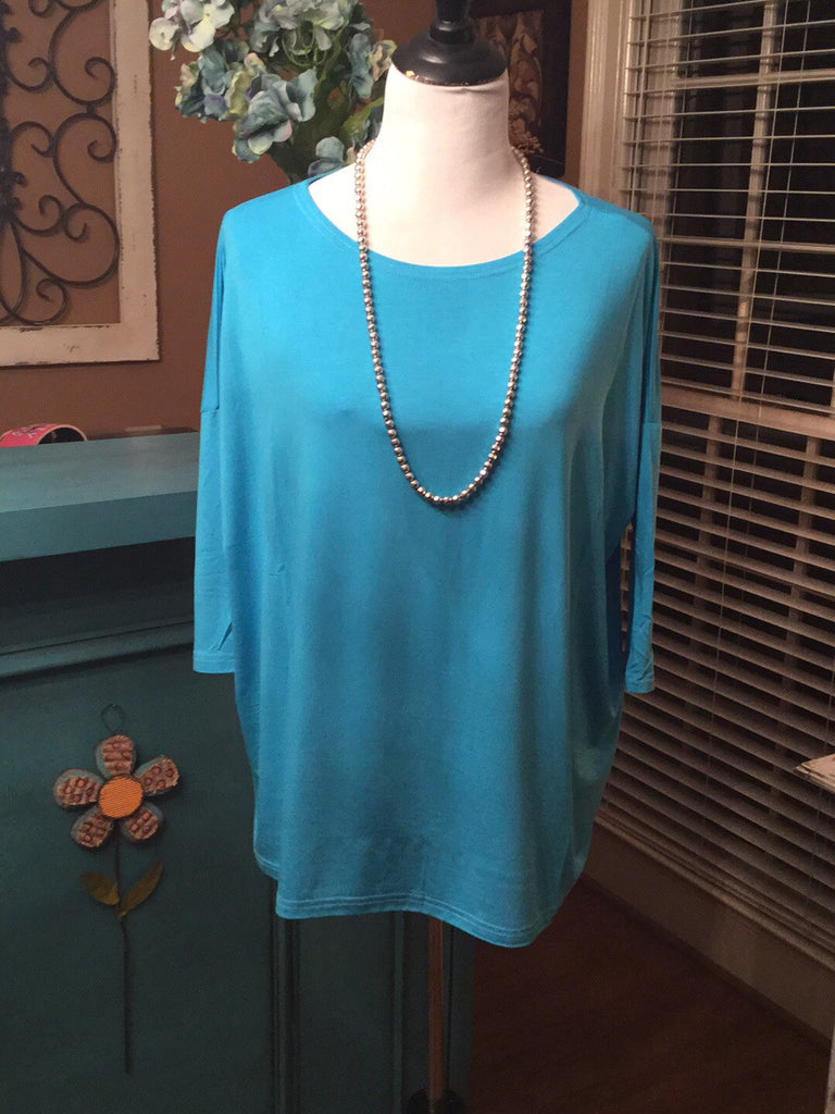 PIKO Turquoise Beach Time 3/4 Quarter Length Top