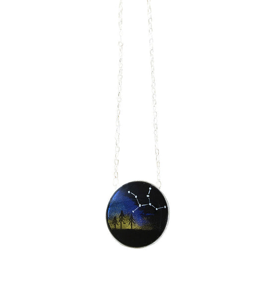 Constellation Mini Round Necklace