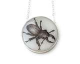 Stag Beetle Medium Round Necklace