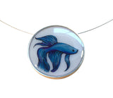 Betta Fish Large Round Necklace