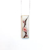 Cherry Blossom Vertical Bar Necklace