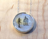 California Redwoods Small Round Necklace