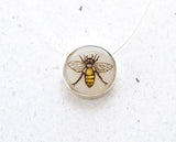Bee Small Round Necklace
