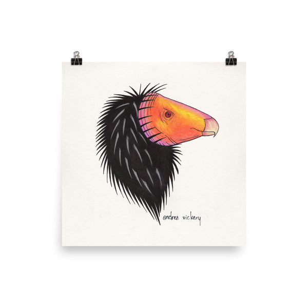 California Condor Sketch Print 10 x 10