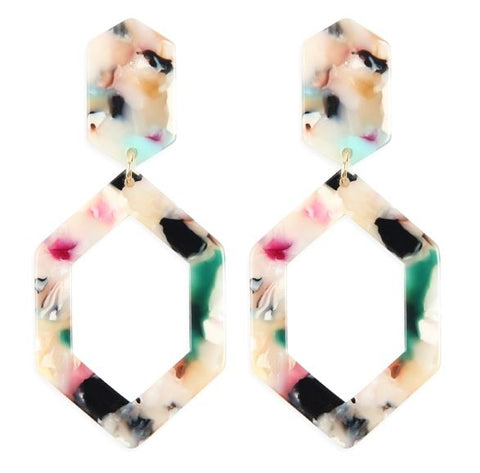 Polygon Acetate Earrings