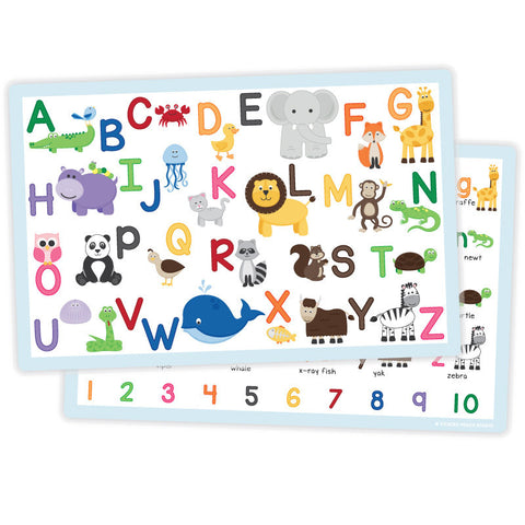 Kids Laminated Activity Placemats - Various Designs