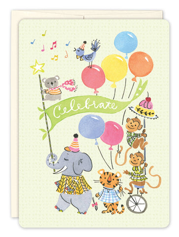 Birthday Card - Animal Parade