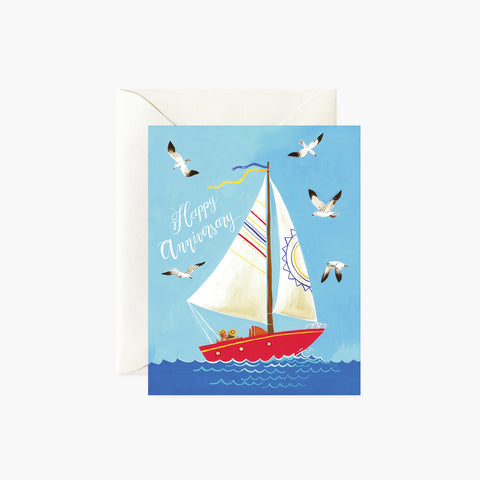 Anniversary Card - Boat