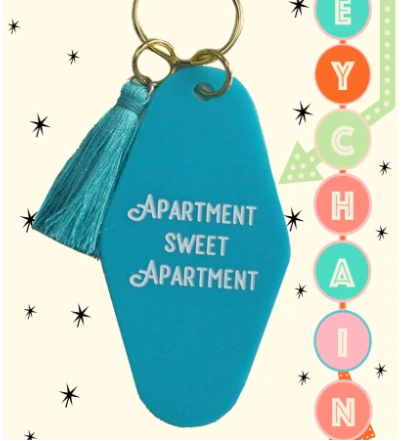 Teal Key Tag - Apartment Sweet Apartment