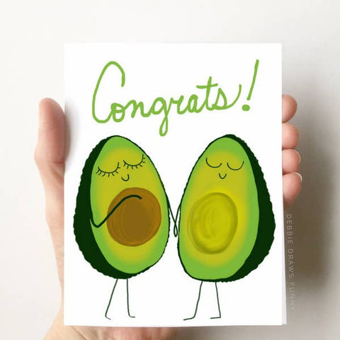 Card - Avocado Baby
