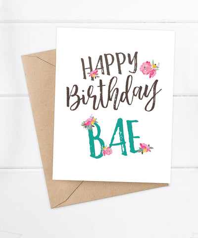 Card - Happy Birthday BAE
