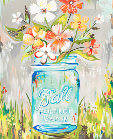 Art Print - Ball Jar - Katie Daisy