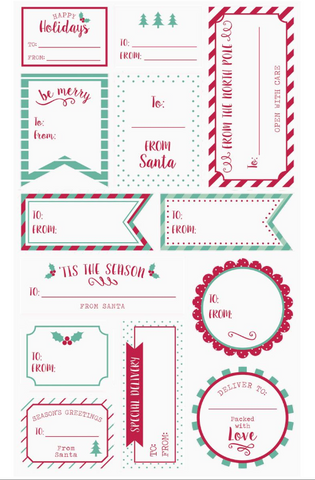 Be Merry Gift Labels