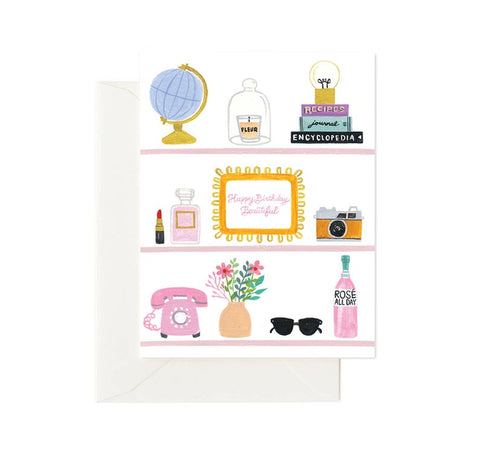 Card - Happy Birthday Beautiful Shelfie