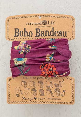 Boho Bandeau Headband - Berry Stems