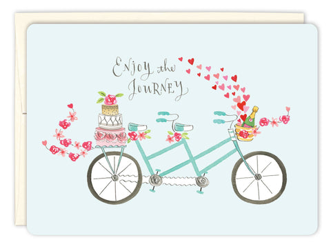 Wedding Card - Tandem Bike