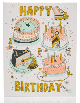 Greeting Card - Happy Birthday Builders