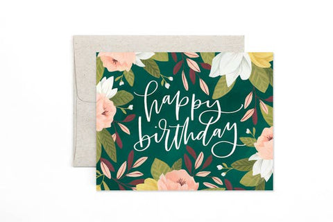Card - Happy Birthday Floral