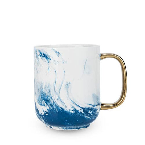 Blue Marbled Mug